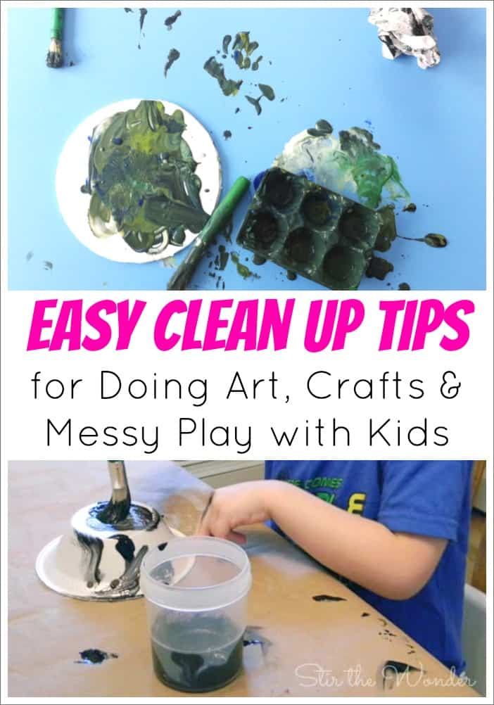 Easy clean up tips for crafting with littel kids