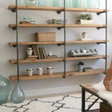 Extra thick, industiral diy pipe shelves