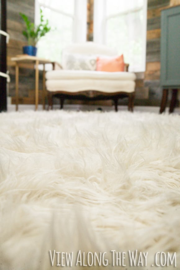 Homemade faux fur rug