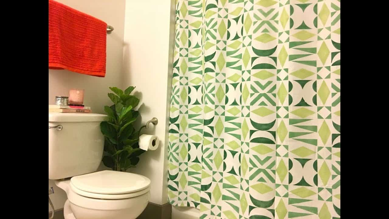 How to custom stencil a shower curtain