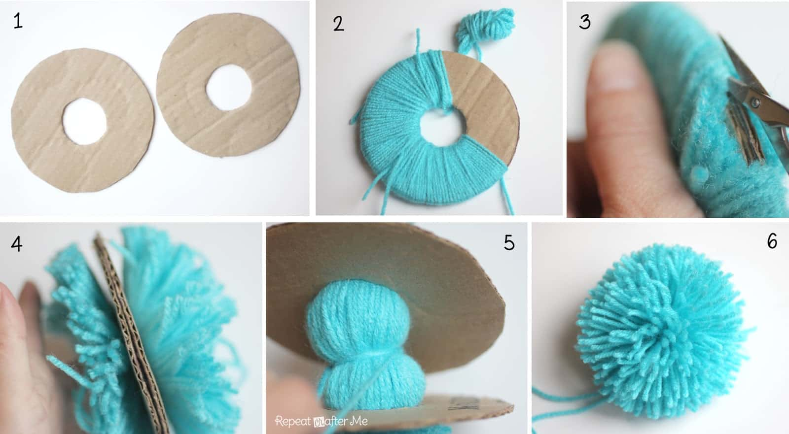 b7567a269d4 How to make simple large pom poms