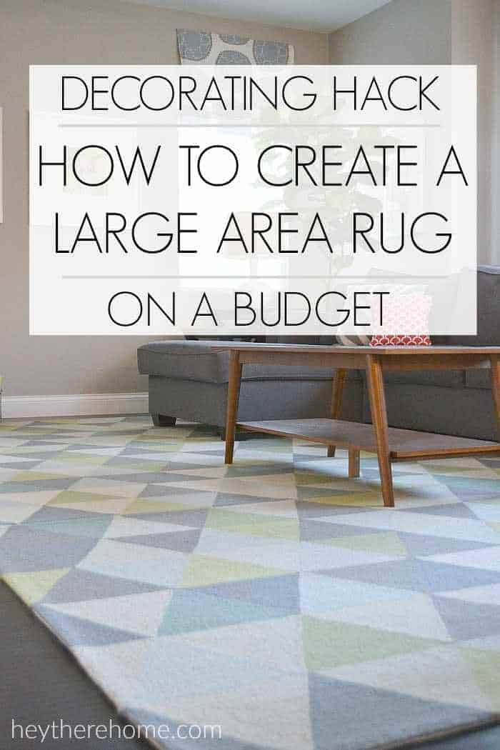 How to patchwork a large area rug on a budget
