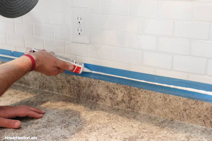 How to properly caulk your subway tiles