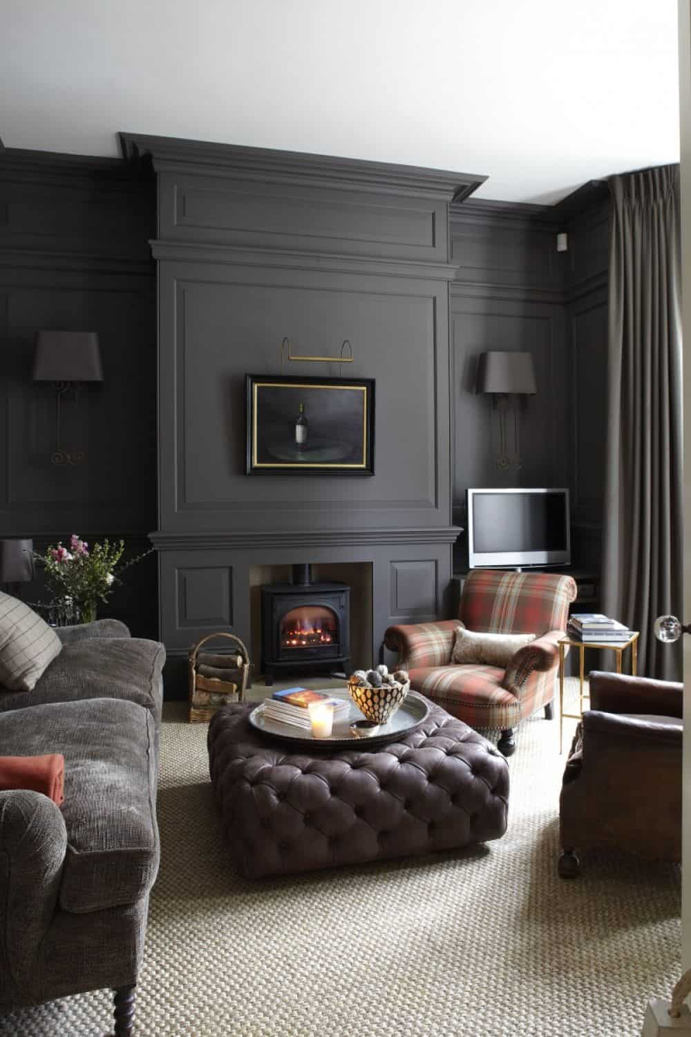 How to use charcoal grey in home decor based on colour theory