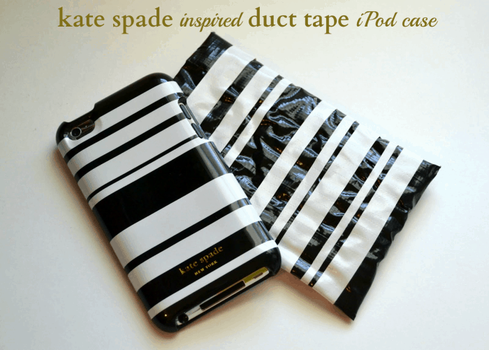 Kate spade inspired duct tape iphone case