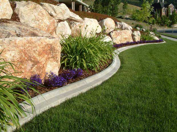 Lawn edging ideas concrete