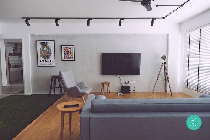 Minimalist and spacious layouts