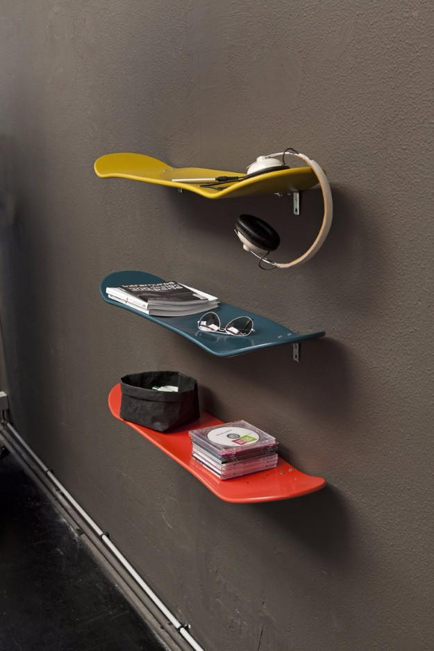Skateboard shelves diy