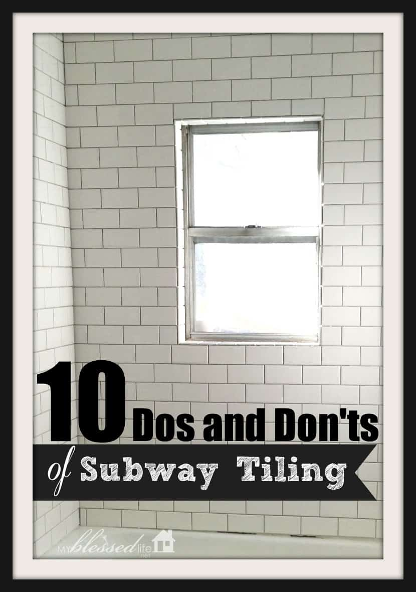 The biggest do's and don'ts of subway tiling
