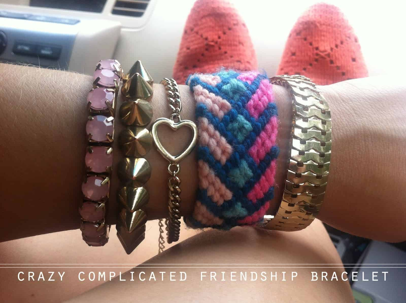 The crazy complicated yarn friendship bracelet