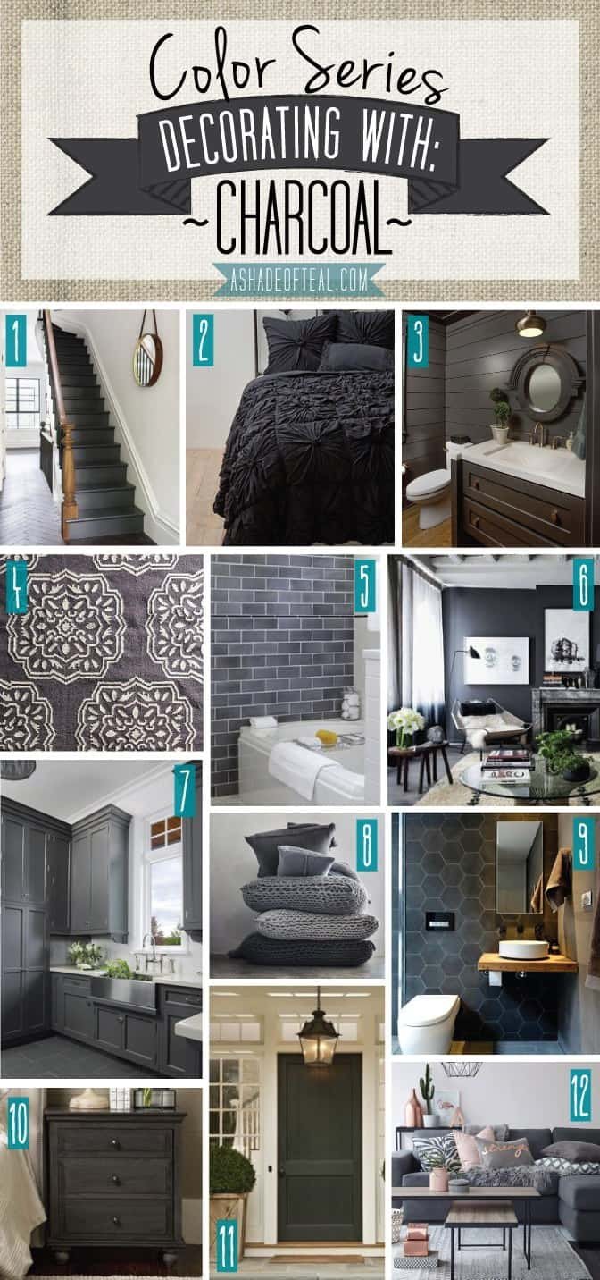Tips for accenting rooms with charcoal grey decor