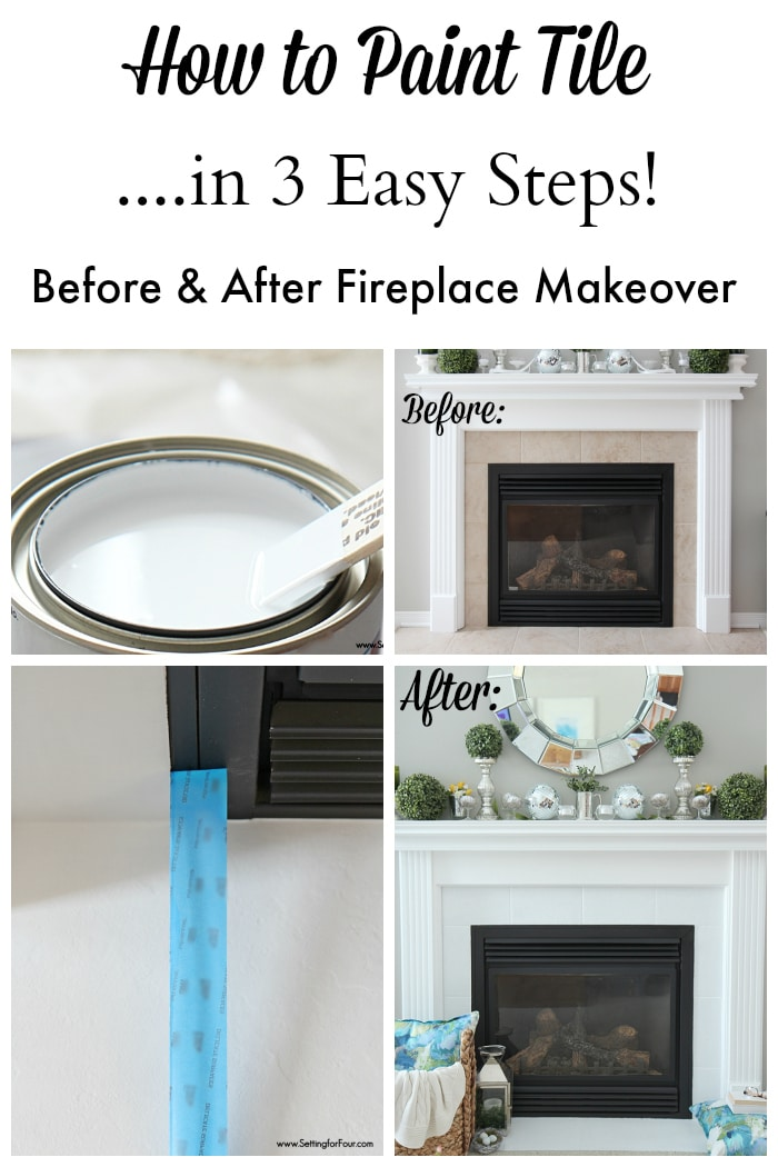 Tips for paiting old fireplace tile without sanding