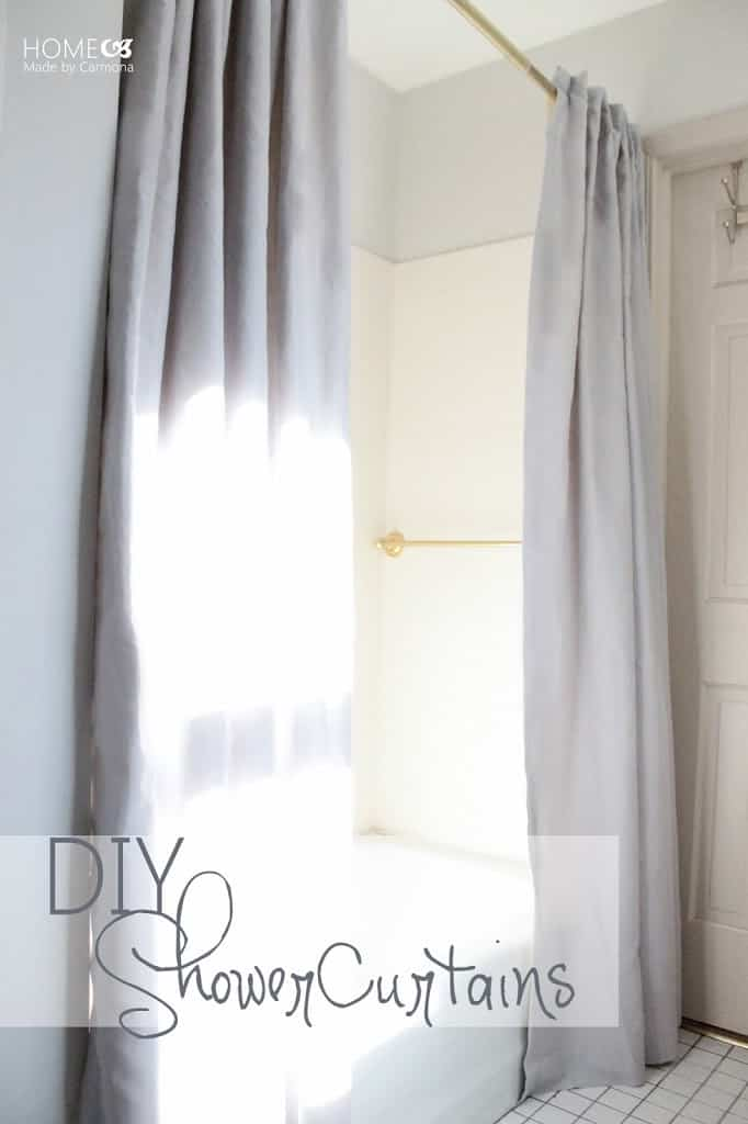 Window style split shower curtain