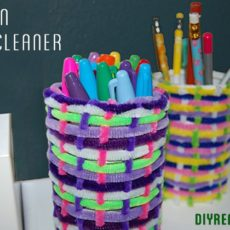 Woven pipe cleaner cans