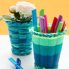 Yarn cup weaving