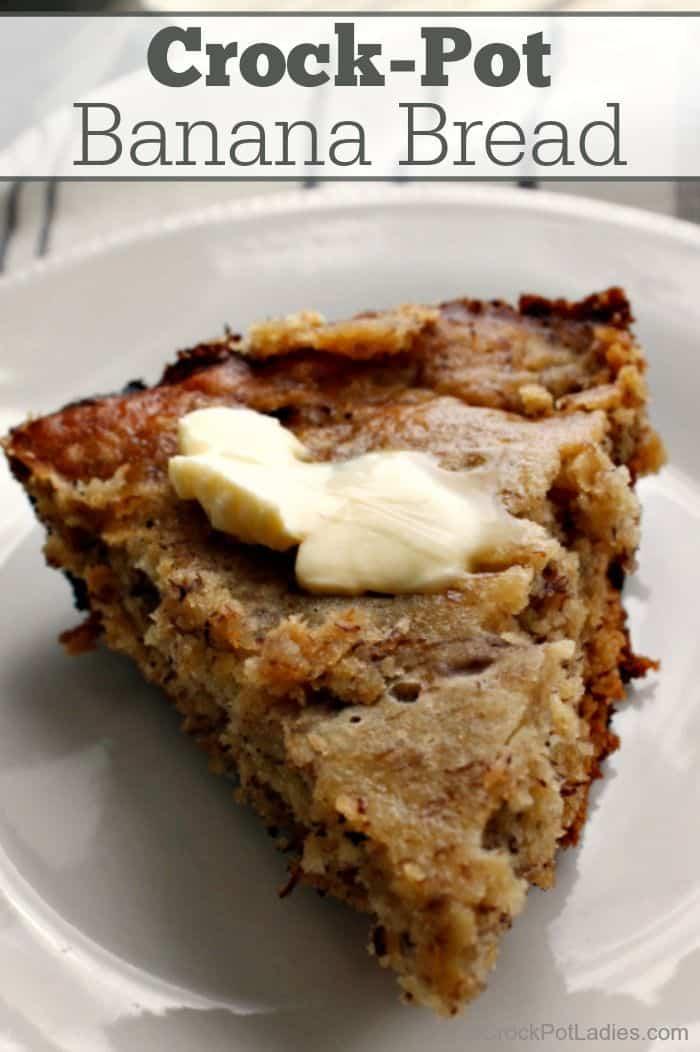 Yummy crock pot banana bread
