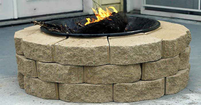 Diy brick fire pit budget