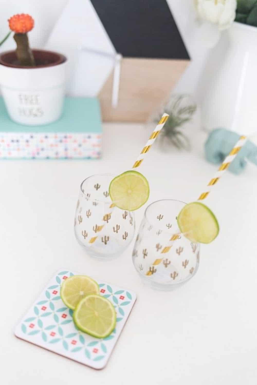 Diy cactus wine glasses