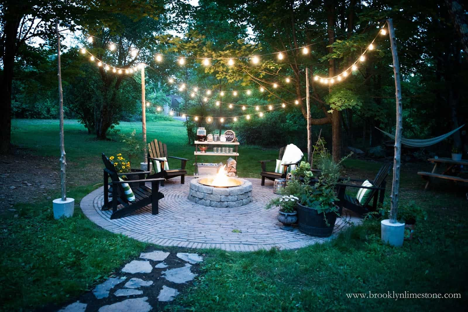 Diy circular patio