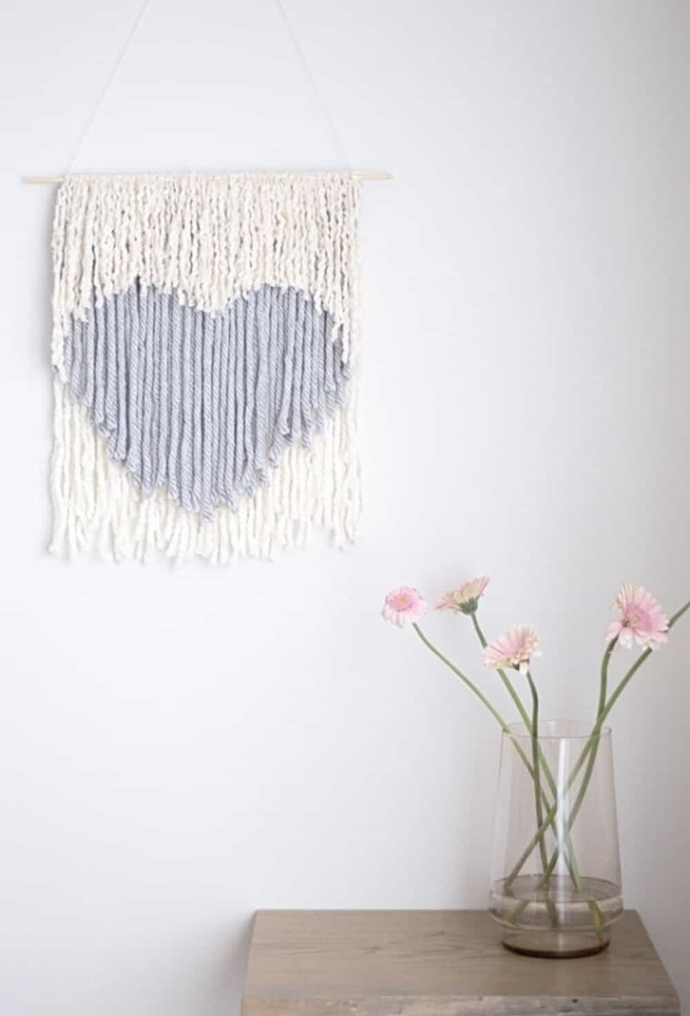 Diy heart wall hanging