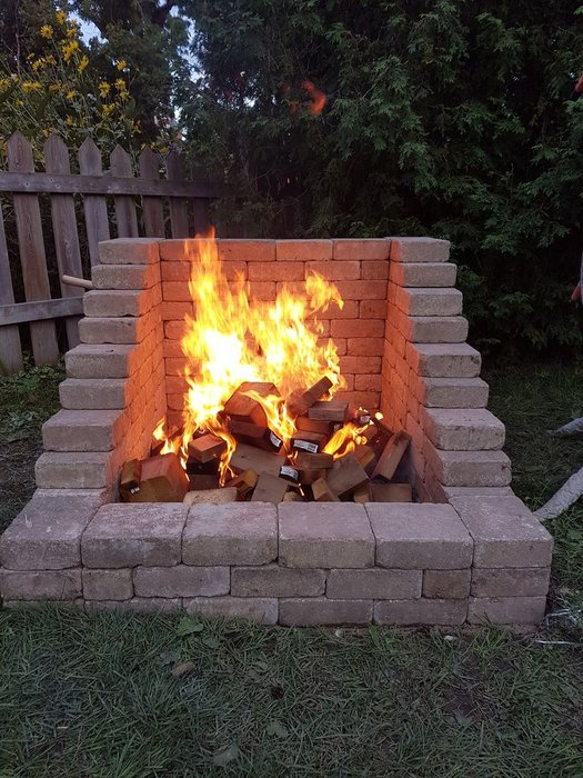 Diy high back fire pit
