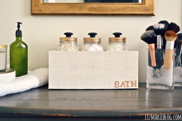 Diy mason jar storage with knobs
