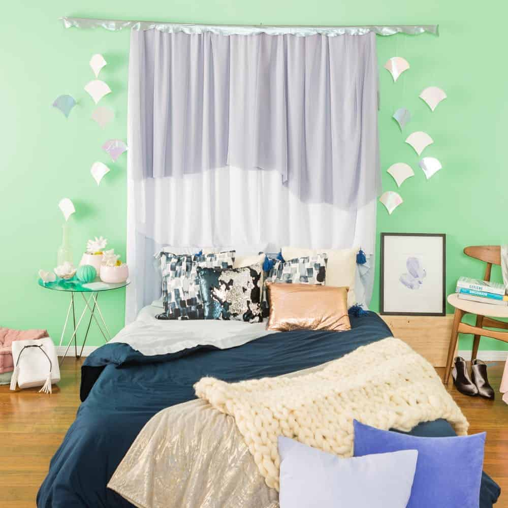 Diy mermaid curtain