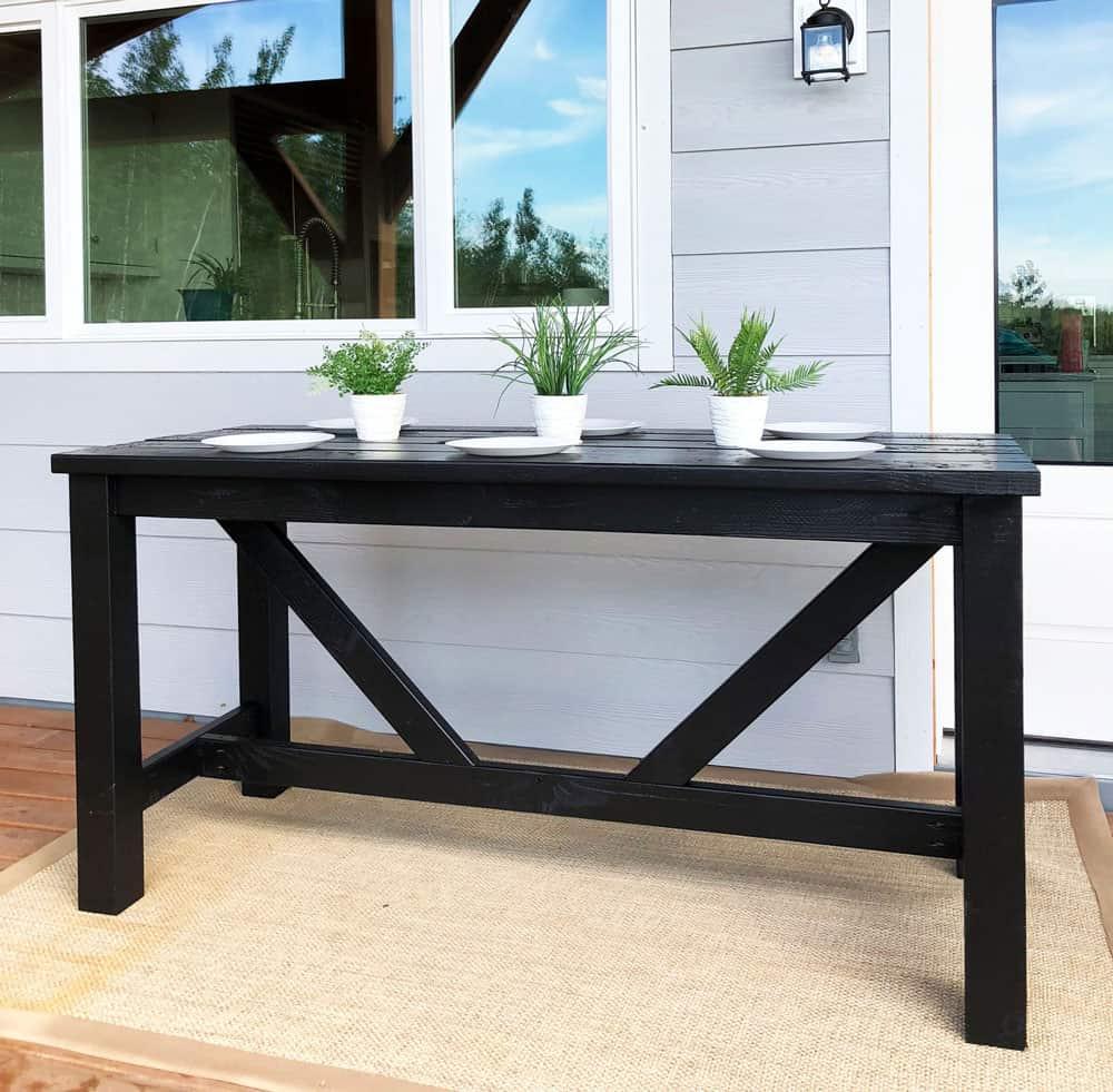Diy outdoor bar table pub counter 1