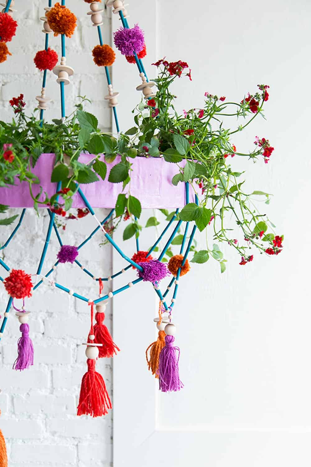 Diy polish chandelier planter