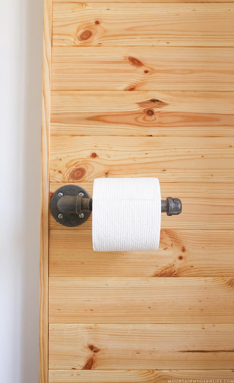 Diy rustic toiler paper holder