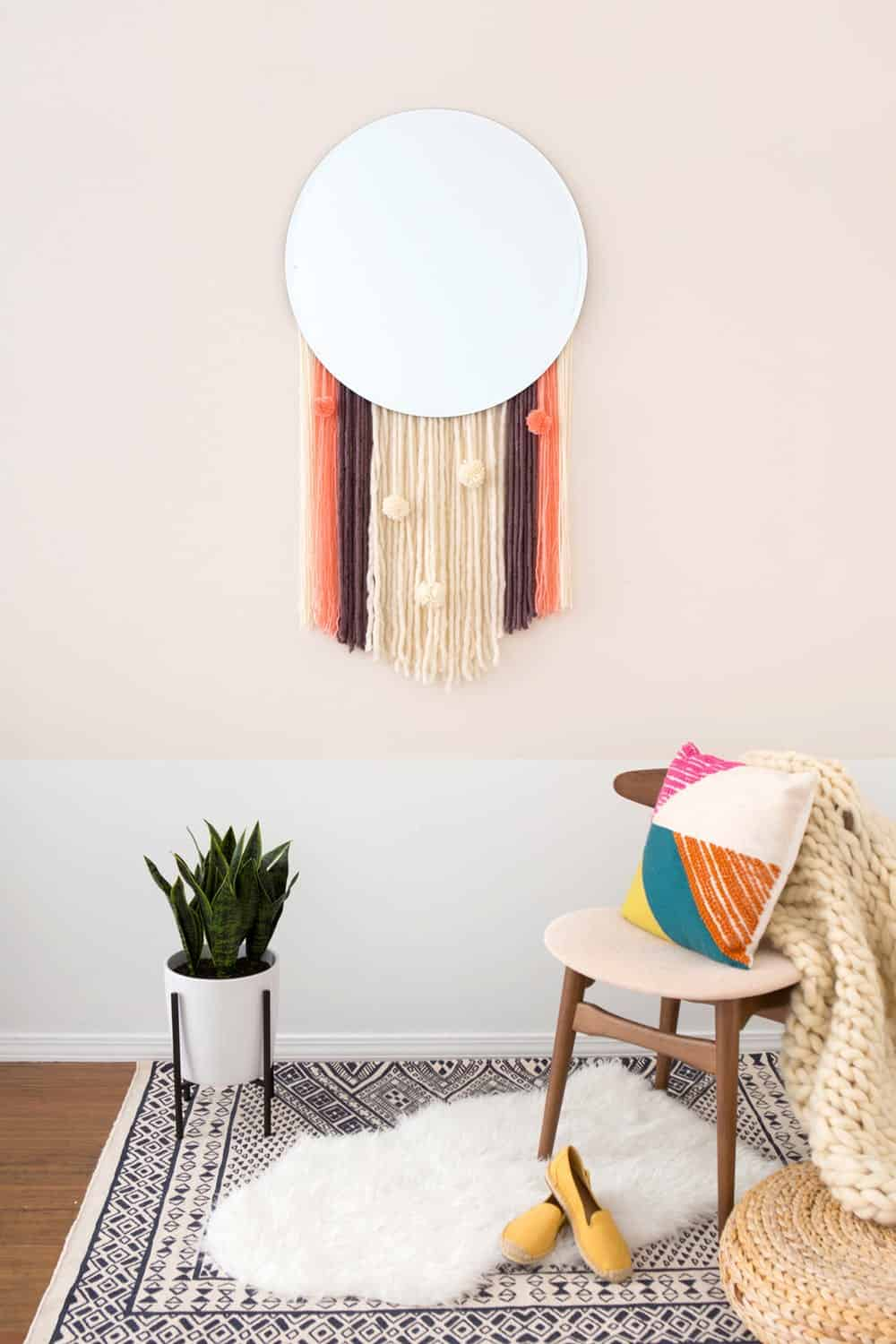 Diy tassel mirror
