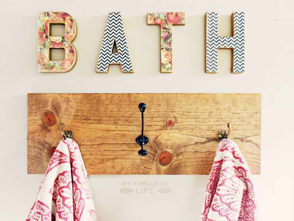 Diy towel rack hooks