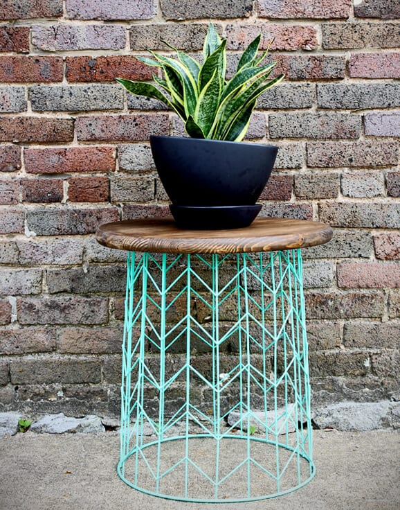 Diy wire basket table
