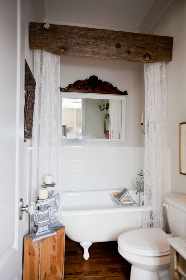 Diy wood bath valence