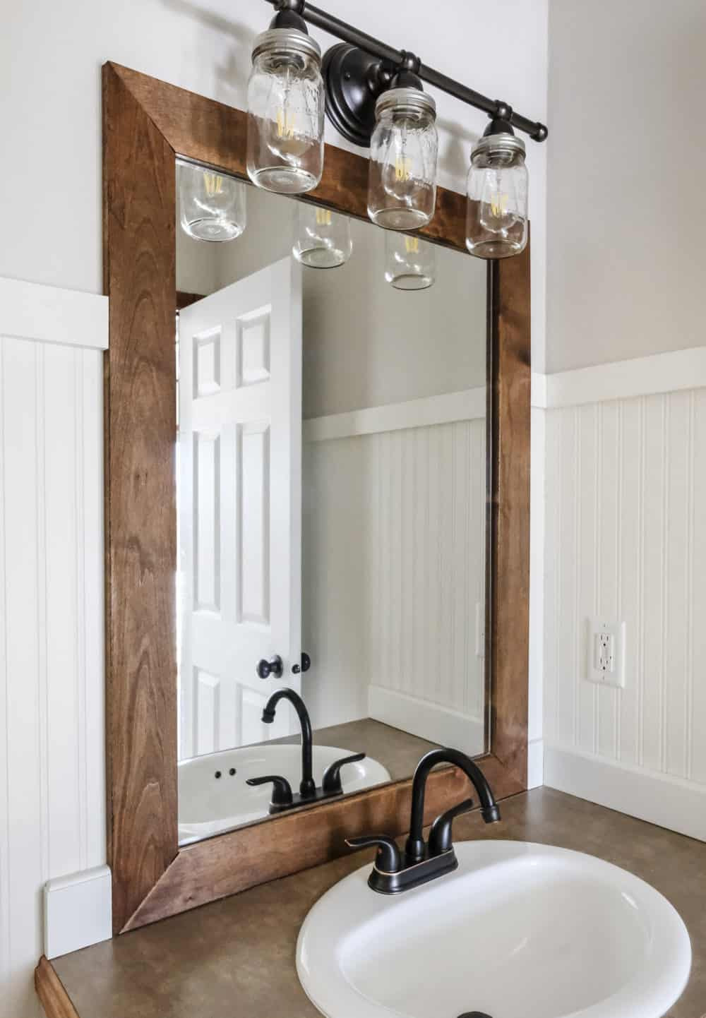 Diy wood frame mirror
