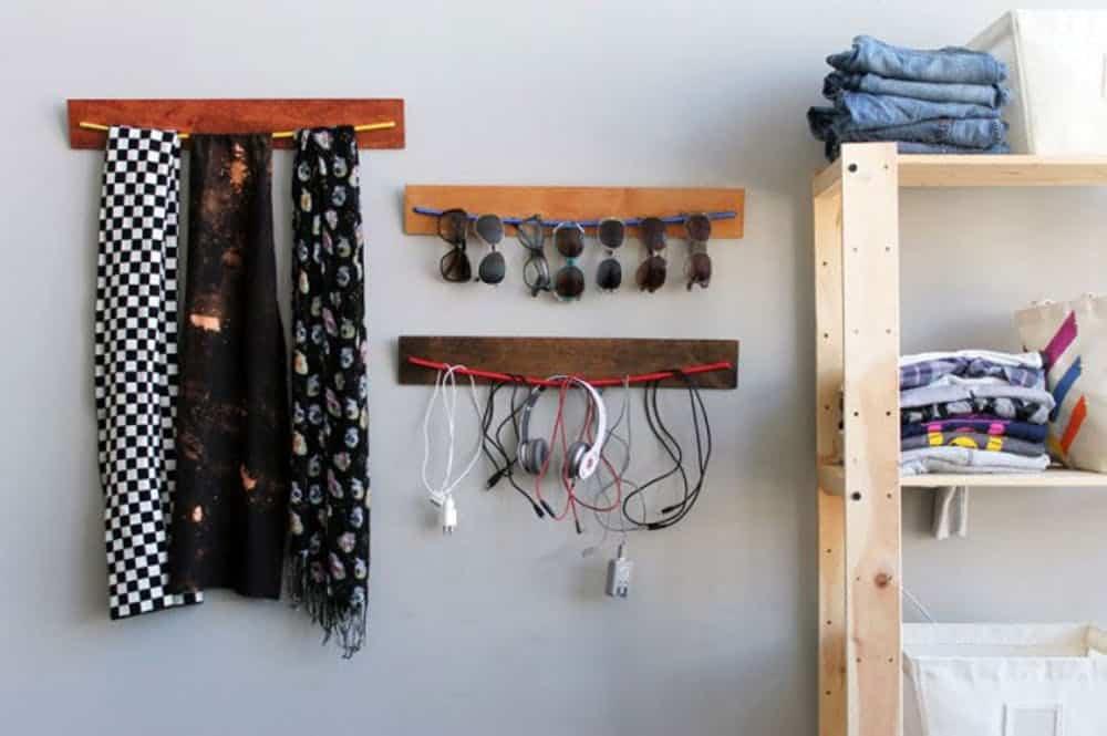 Diy wooden bungee organizers