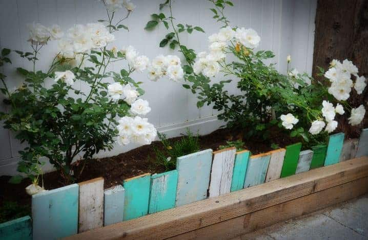 Recycled wood edging