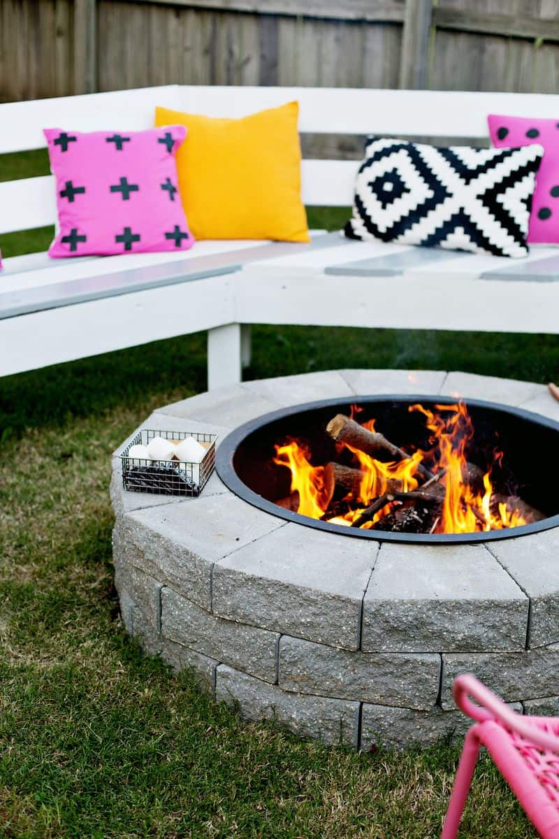 Stylish fire pit diy