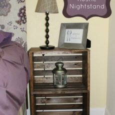 $15 stacked crate nightstand
