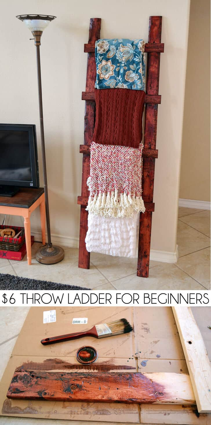 $6 throw blanket ladder for beginners