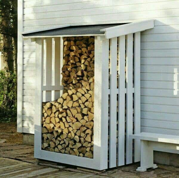 Add on style firewood shanty