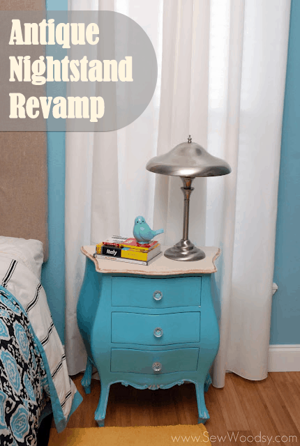 Antique nightstand revamping project