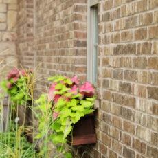 Cedar fence window box