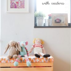 Crate and fun fabric toy box on wheels