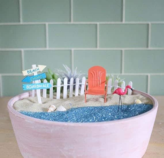 Diy beach fairy garden tutorial 1