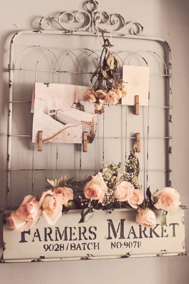 Diy shabby chic gate sign wall decor