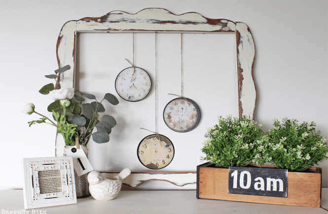 Diy vintage farmhouse clock faces