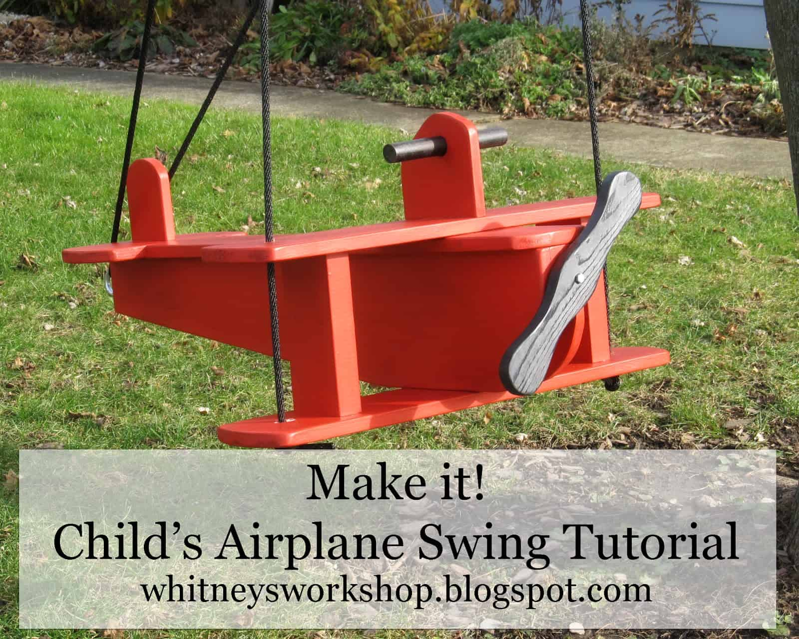 Diy airplane swing
