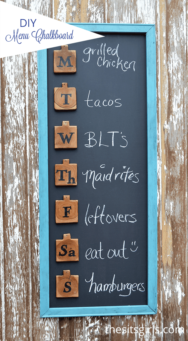 Diy chalboard menu board