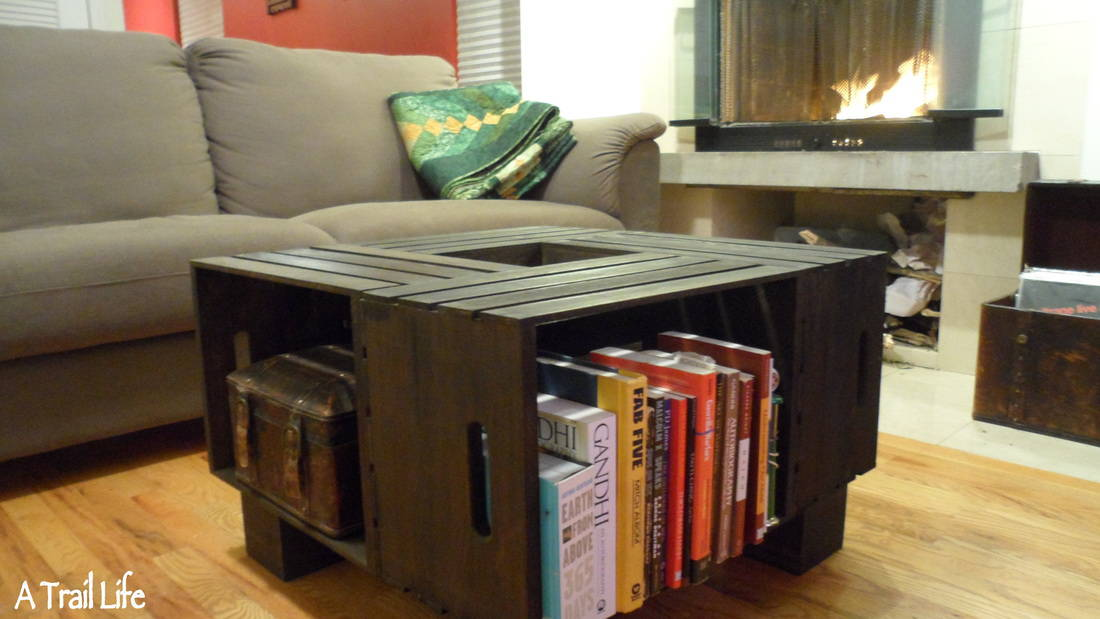 Diy crate cubby coffee table